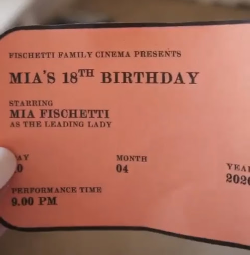 Senior+MIa+Fischetti%27s+family+turned+her+birthday+into+a+trip+to+the+movies%2C+including+movie+tickets.