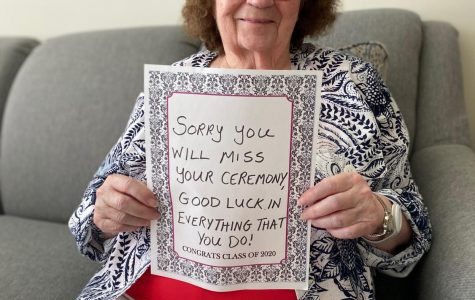Residents from The Sheridan at Bethel Park, a memory care facility at Cool Springs, offered words of encouragement to the Baldwin High School Class of 2020.