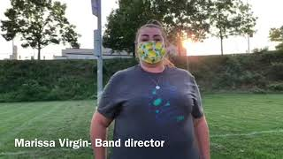 Band Director Marissa Virgin had to adjust the marching band's practices and show because of social distancing requirements.