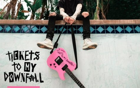 Machine Gun Kelly's record Tickets to My Downfall addresses mental health issues.