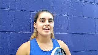 Freshman Gabrielle Moder has had a big year for the Baldwin tennis team.