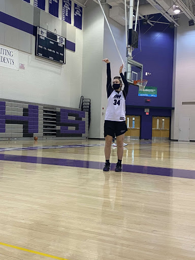 Junior Morgan Altavilla has become a leader on the girls basketball team.