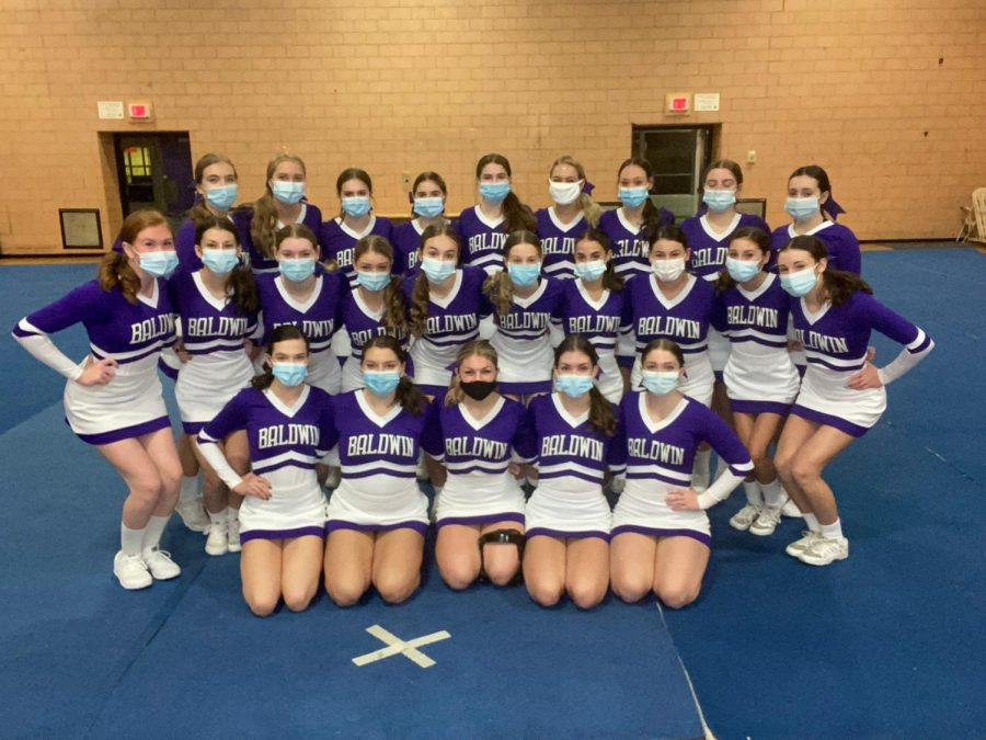 The Baldwin competitive cheer team competed in two competitions this past weekend and qualified for nationals.