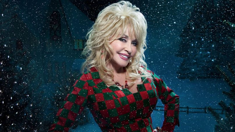 Dolly Parton's Christmas movie musical focuses on a small town that is being sold to make way for a shopping mall.