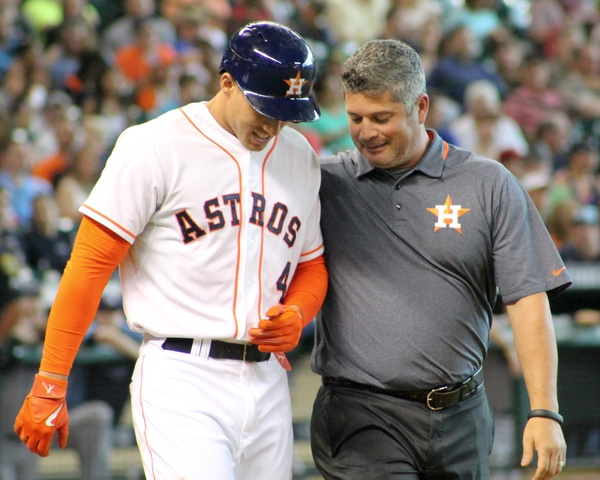George Springer (pictured left) agreed to a $150 million contract with the Toronto Blue Jays.