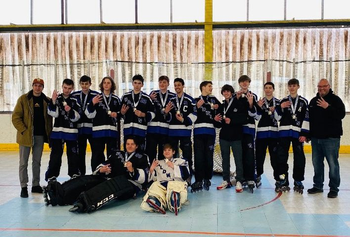 The Baldwin inline hockey team won its fourth straight championship on Sunday by defeating West Allegheny.