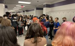 About 50 students walked out of class fourth period today to protest what they called the school's insufficient response to sexual abuse and harassment allegations.