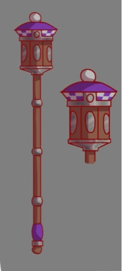 This is a conceptual design for the mace that the junior class president will carry at commencement.