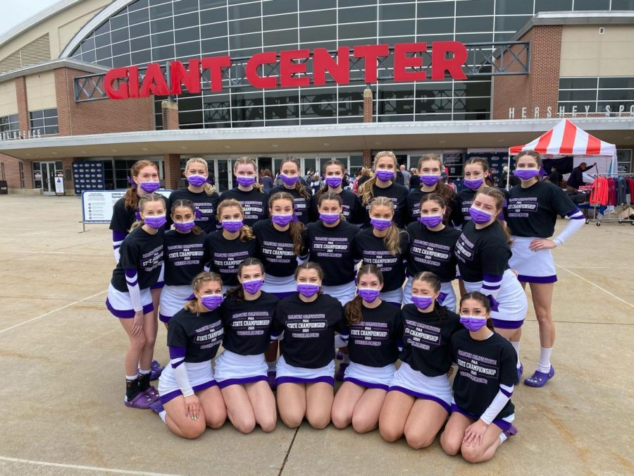 The Baldwin Competitive Cheer team competed at the PIAA State Championships this past weekend, placing third in their division.