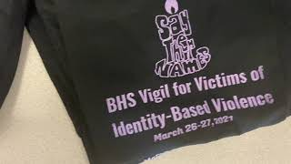 Baldwin High School held its first all-night vigil for victims of violence.