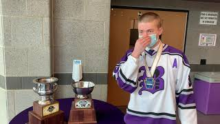 Baldwin High School celebrated the return of the state champion Highlander ice hockey team.